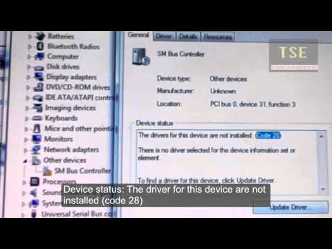 How to fix SM Bus Controller driver problem in Windows 7 64 bit