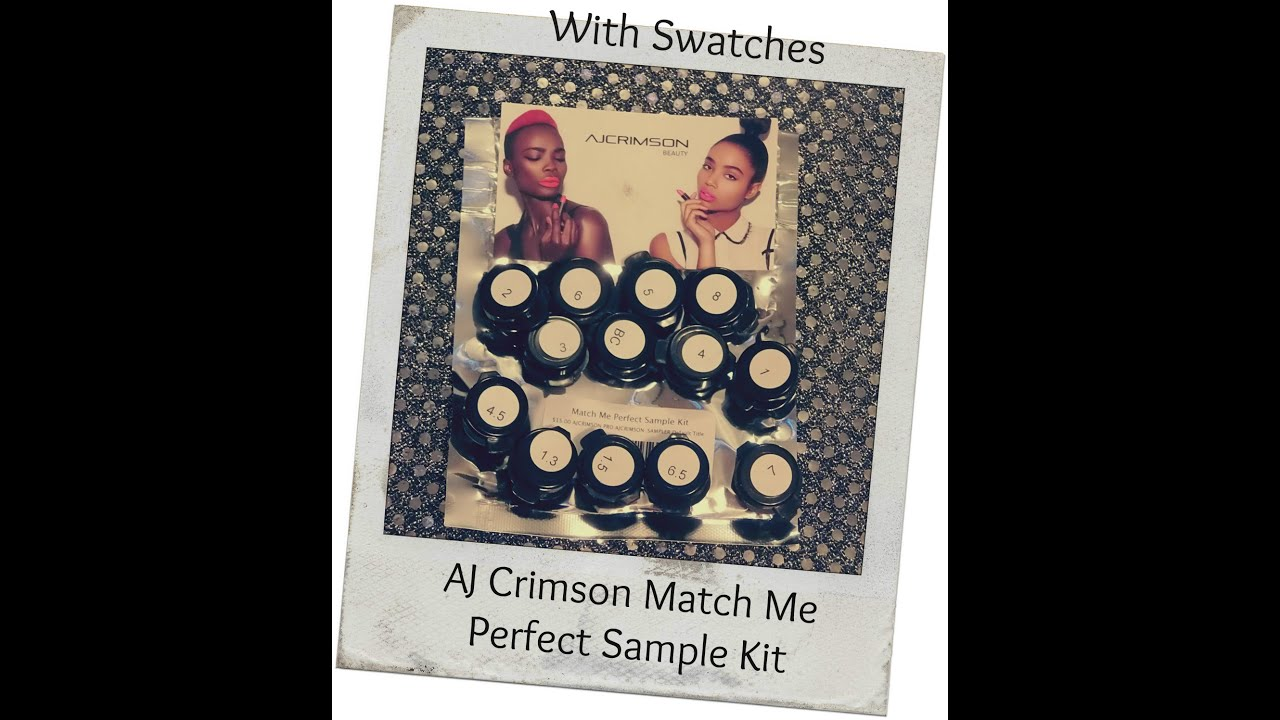 182 AJ Crimson Match Me Perfect Sample Kit with Swatches - YouTube