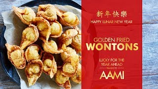 Golden Fried Wontons | Chinese New Year Recipe | Easy Chinese Cooking