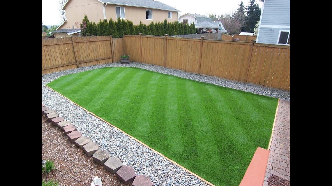 Synthetic Turf Backyard - YouTube on Artificial Grass Backyard Ideas  id=11949