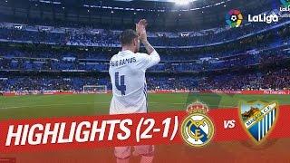 Resumen de Real Madrid vs Málaga CF (2-1)