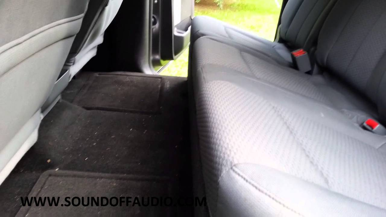 F150 Double Cab >> 2009-2014 F150 Super Crew subwoofer box by Sound Off Audio. - YouTube