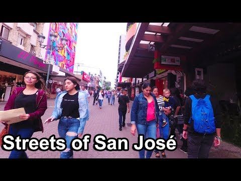 Costa Rica 2017 - (1) Streets of San Jose Central Avenue 4K