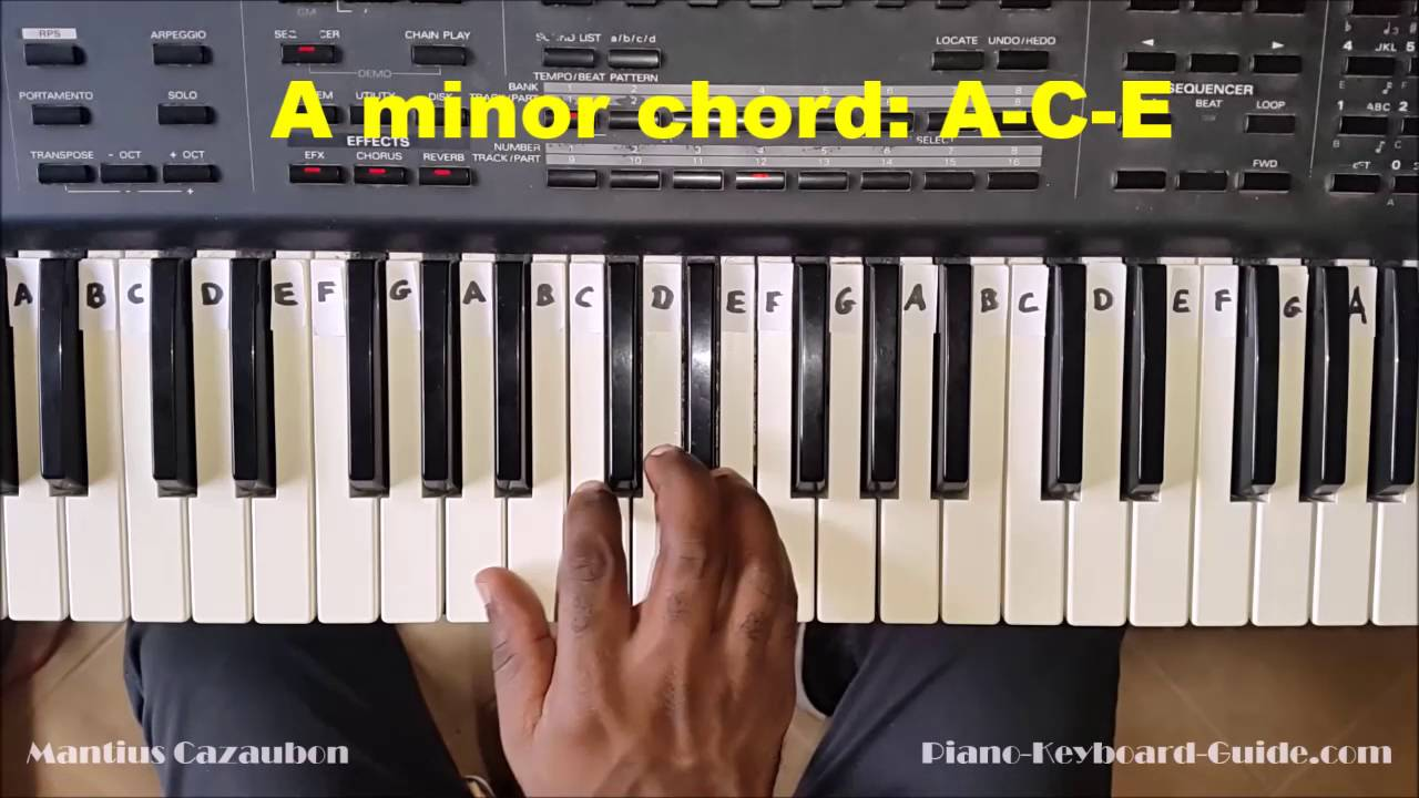 How to play the a minor chord on piano and keyboard am amin how to play the a minor chord on piano and keyboard am amin chord hexwebz Gallery