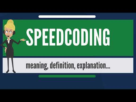 What is SPEEDCODING? What does SPEEDCODING mean? SPEEDCODING meaning, definition & explanation