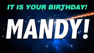HAPPY BIRTHDAY MANDY! This is your gift.