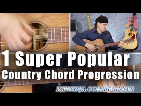 A Super Popular Country Chord Progression With Bass Note Run Youtube