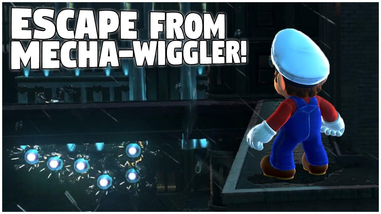 Escaping The Mecha Wiggler Fight Super Mario Odyssey Glitch