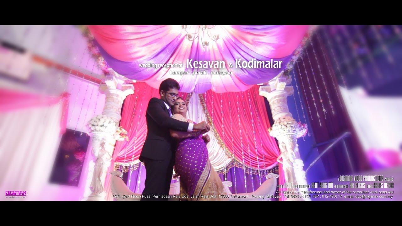Hindu wedding reception highlight kampar kesavan kodimalar by hindu wedding reception highlight kampar kesavan kodimalar by digimax video productions junglespirit Images