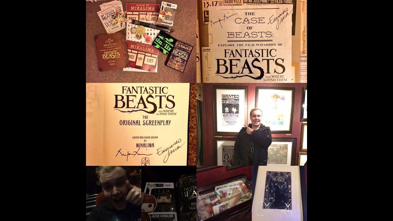 Fantastic Beasts Exhibition House Of Minalima London 27/11