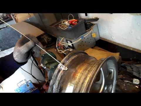 аргонная сварка легкосплавного диска aurora pro inter tig 200 ac/dc puls