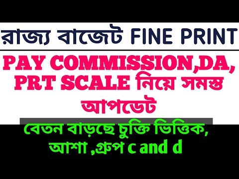 Today's budget about 6th pay commission,da,prt scale,gr c, contractual worker's salary hike