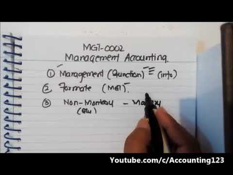 Management Accounting in Hindi