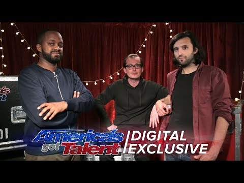 Oskar and Gaspar Shed Light On Their 3D Projection Mapping Performance - America's Got Talent 2017