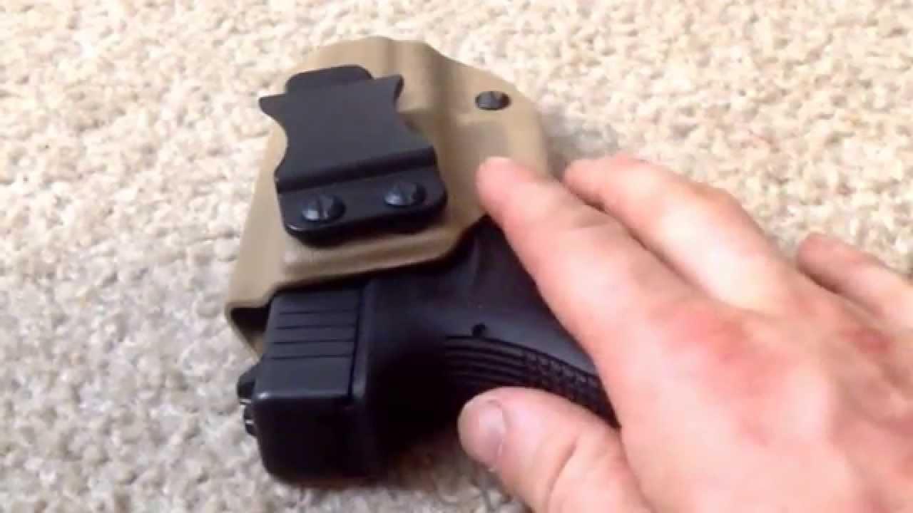 Glock 27 IWB Kydex Holster Honest Review Ted_Cori - YouTube