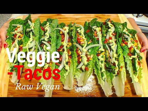Veggie Tacos | THE RAW BOY RAW VEGAN RECIPES