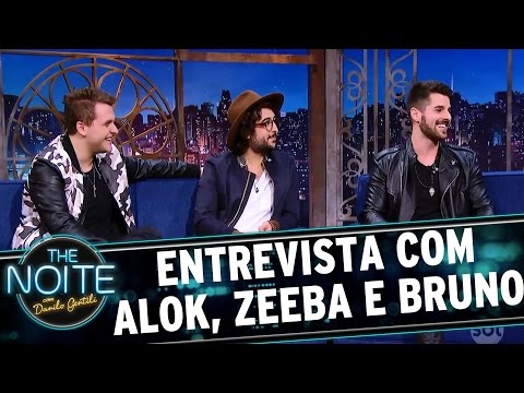 Entrevista com Alok, Zeeba e Bruno | The Noite (24/03/17)