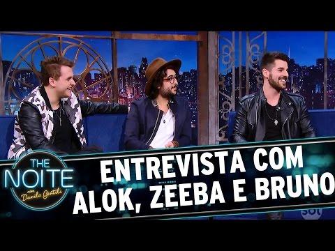 Entrevista com Alok Zeeba e Bruno  The Noite 240317