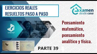 EXANI II desde casa - EJERCICIOS REALES PASO A PASO P39