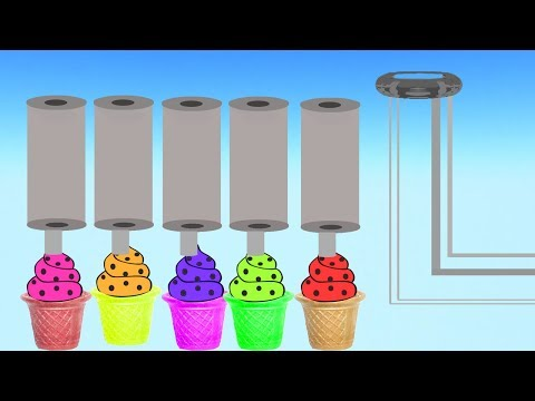 Learn Colors with Soccer Balls and Ice Cream Video For Children    Nursery Rhymes thumbnail