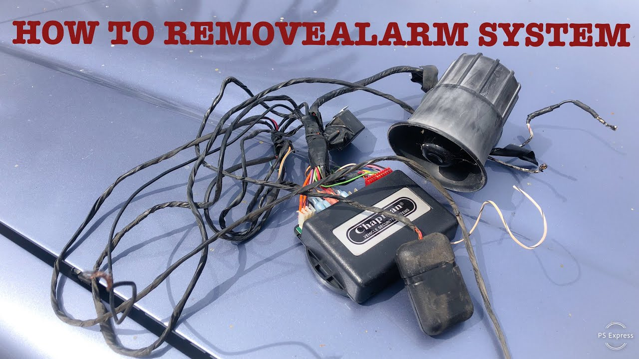 [DIAGRAM_3US]  How To: Remove Aftermarket Alarm System From Toyota Tacoma - YouTube | Chapman Security System Wiring Diagram |  | YouTube