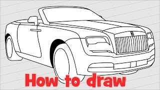 How to draw a car Rolls Royce Dawn