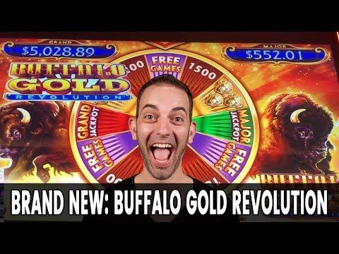 🔴-brand-new-🎰-buffalo-gold-revolution-slot-machine-with-brian-christopher