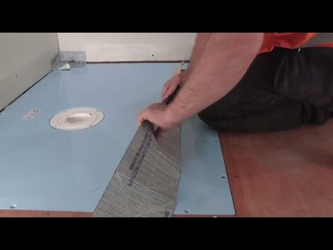 How To Install A Wetroom On A Timber Floor   AKW TuffForm U0026 FormSafe