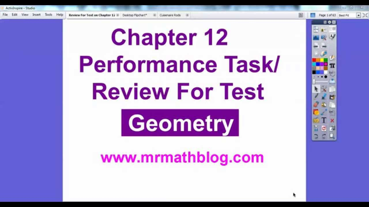 Review For Test Chapter 12 - Geometry - YouTube