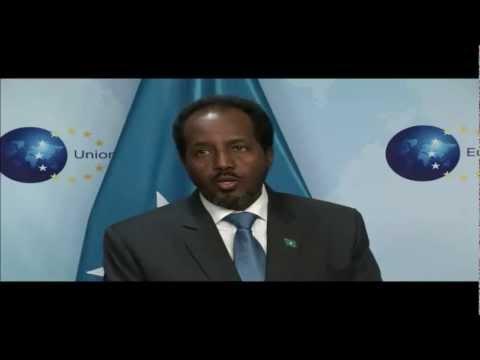 president Hassan Mohamoud sheikh meeting with European  union Representative Catherine Ashton .mp4