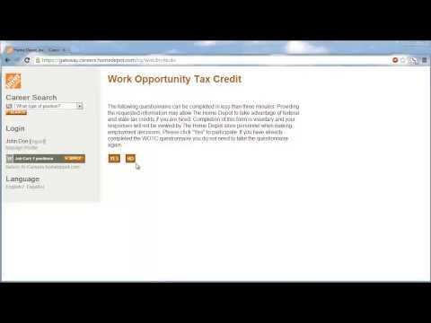 The Home Depot Application Online Video