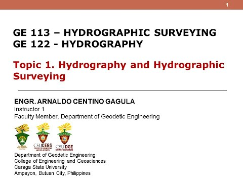 GE-122/GE-113 Hydrography/Hydrographic Surveying Topic-1
