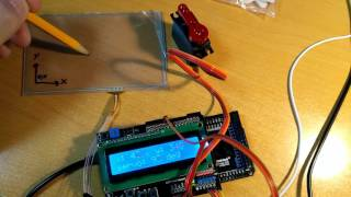 Resistive touchscreen & servo test. Arduino Mega
