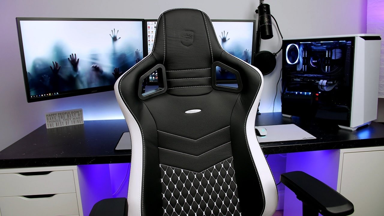 Real Leather Chairs Hanging Chair Pier One Canada Noblechairs Epic Series Review - Ultimate Gaming Youtube