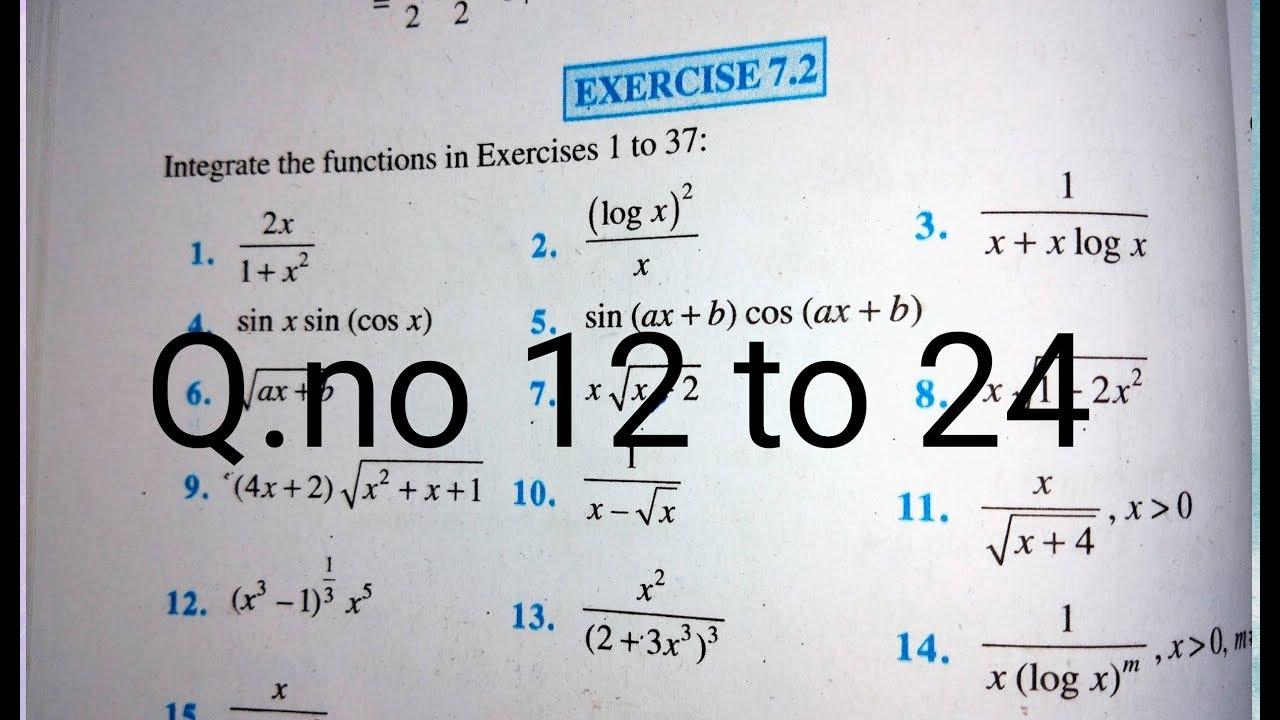 12 th (NCERT) Mathematics-INTEGRATION (CALCULUS) EXERCISE-7 2 12 to 24  (Solution)|Pathshala (Hindi)