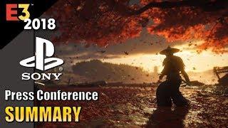 E3 2018: Sony | Summary
