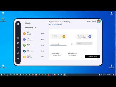 C# - Cryptocurrency Converter Design Demo