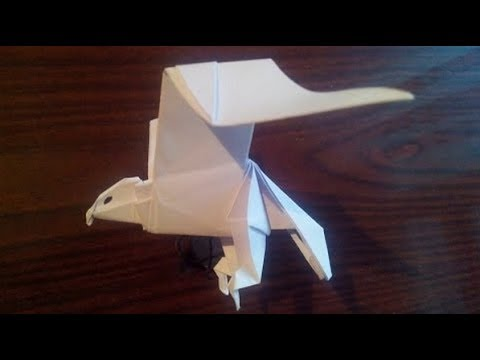 Орел оригами, eagle origami