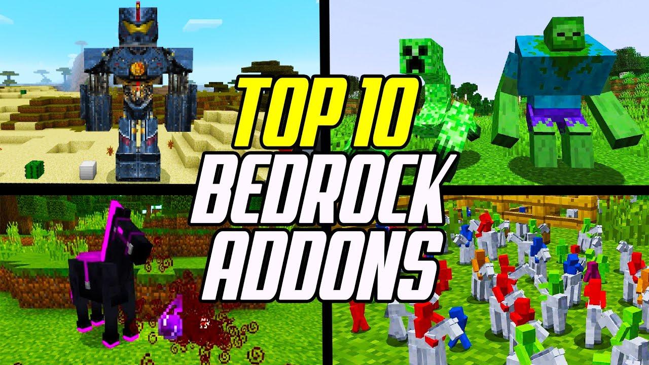 Top 10 Minecraft Bedrock Addons (Best Addon Packs: Windows 10/PE