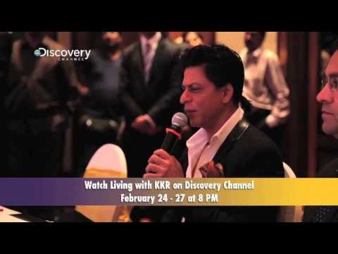 Shahrukh Khan At Living With KKR Press Conference Part 1