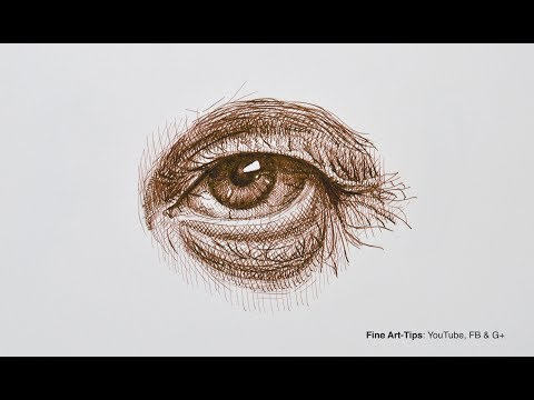 how-to-draw-an-eye-with-pen-&-ink-(old-man)-narrated