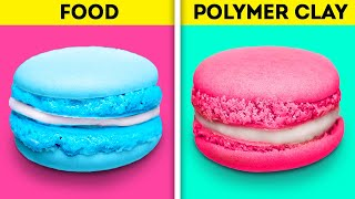 REAL FOOD VS POLYMER CLAY FOOD || 28 SURPRISINGLY BEAUTIFUL POLYMER CLAY DIYs