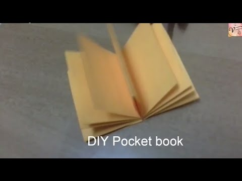 DIY Easy pocket diary/ book without glue