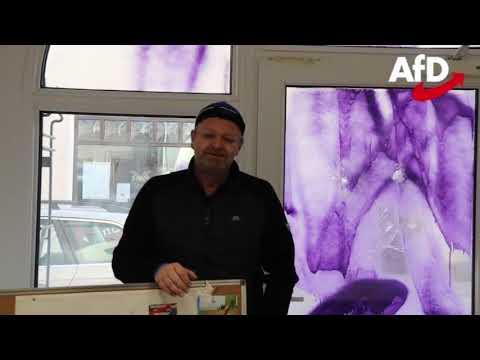 Anschlag auf ein AfD Büro von Prof. Dr. Michael Kaufmann, AfD in Saalfeld - Falko Graf, AfD 11.01.20