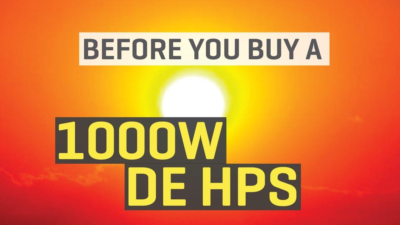 Before You Buy A 1000w De Hps Grow Light Youtube