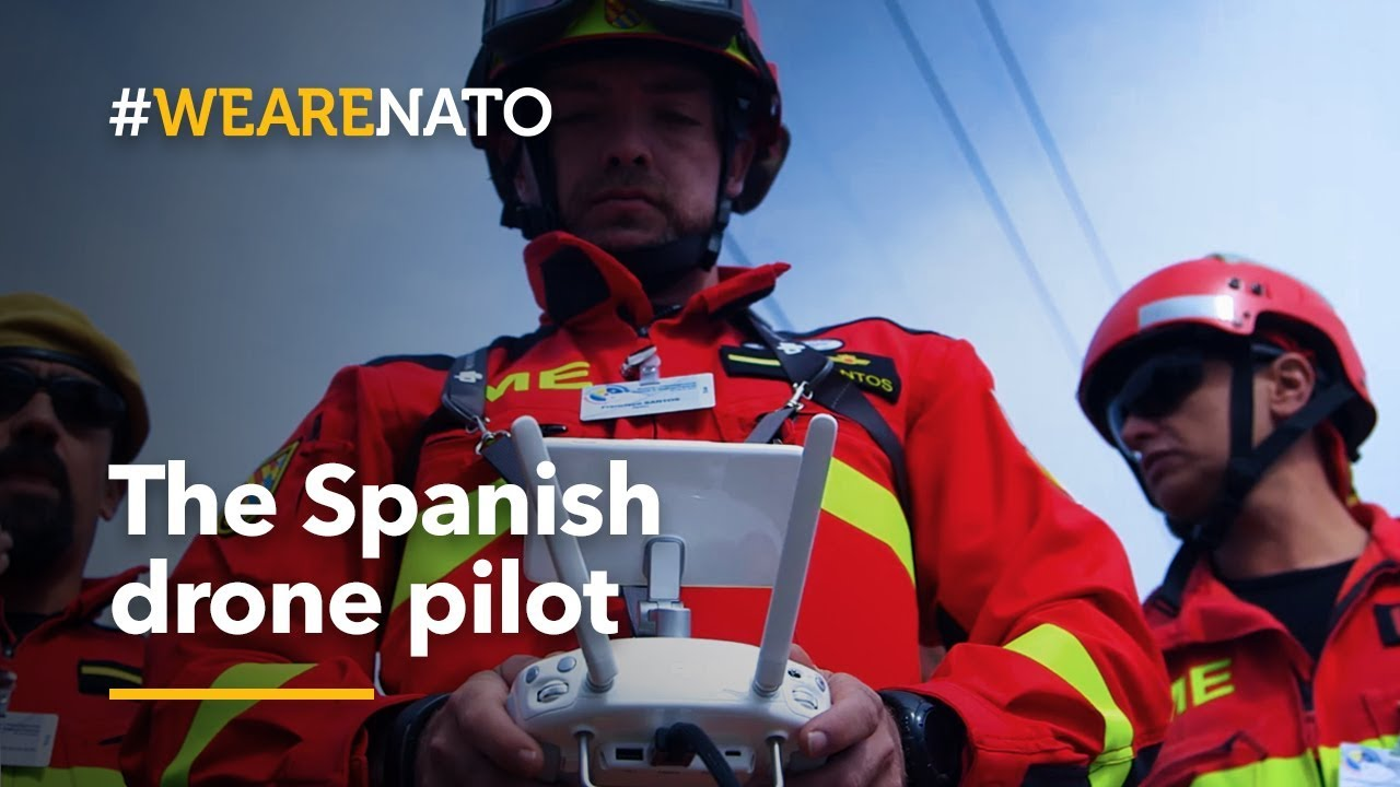 The team's first eyes on the scene: the Spanish drone pilot - #WeAreNATO
