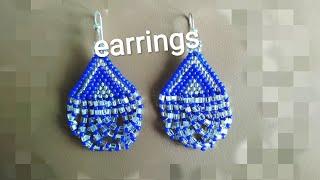Earrings-tutorial. Серьги из бисера. МК