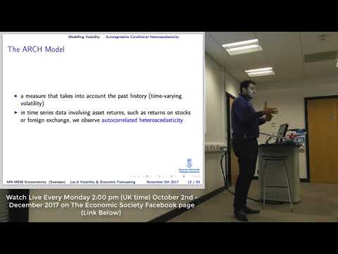 Lecture 6: Modelling Volatility And Economic Forecasting