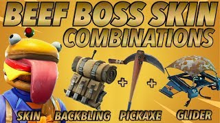 """BEEF BOSS"" BEST BACKBLING - SKIN COMBOS! 'BEFORE U BUYMD (Saison 5 skin) (Fortnite)(2018)"