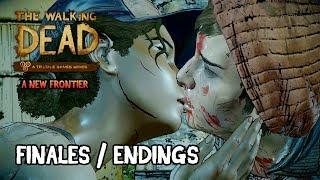 The Walking Dead A New Frontier - Episode 5 Todos los Finales | Bueno, Malo, Muertes | All Endings